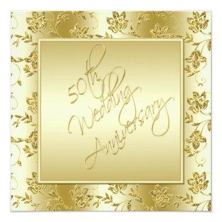 50th Convite do brilho do FALSO do ouro do
