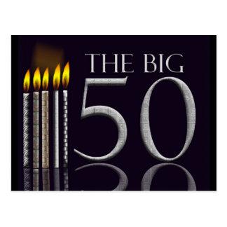 50th Convite do cartão do aniversário -