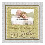 50th Convite feito sob encomenda da foto do