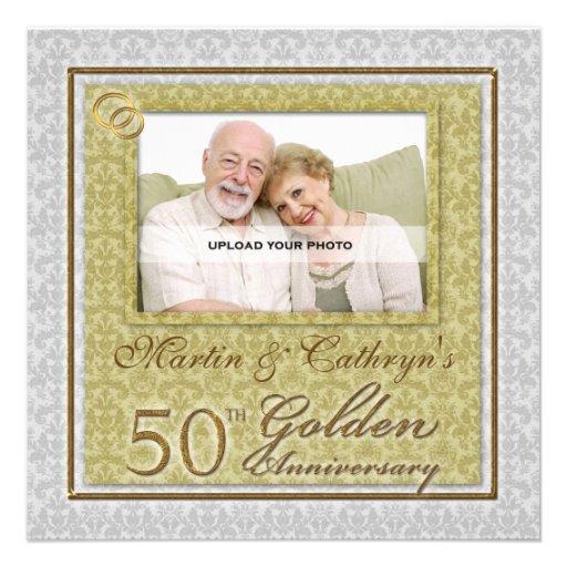 50th Convite feito sob encomenda da foto do aniver