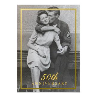 50th convite formal do aniversário
