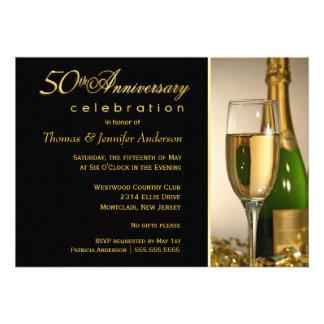 50th Convites da festa de aniversário com monogram
