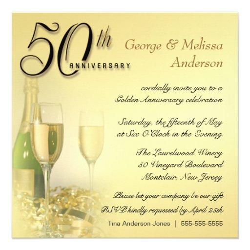 50th Convites da festa de aniversário - contemporâ