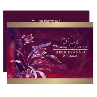 50th Convites da festa de aniversário do casamento