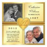 50th Convites da foto do coração da faísca do aniv