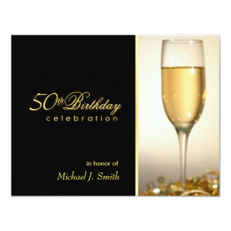 50th convites de festas de aniversários - convite 10.79 x 13.97cm