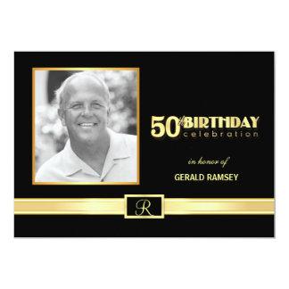 50th Convites de festas de aniversários com foto