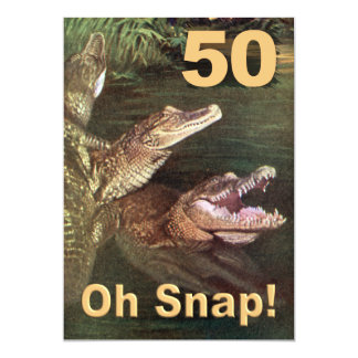 50th convites de festas de aniversários engraçados convite 12.7 x 17.78cm