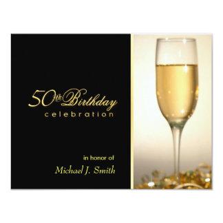 50th convites de festas de aniversários - estilo