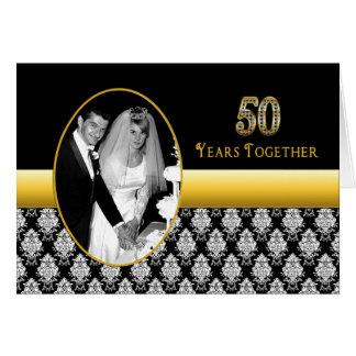 50th Convites do aniversário de casamento