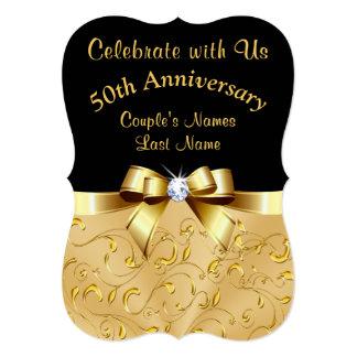 50th convites personalizados do aniversário de
