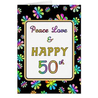 50th Desejos do aniversário Cartão Comemorativo