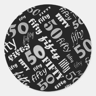 50th Etiqueta da festa de aniversário