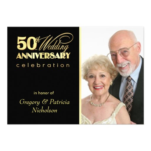 50th festa de aniversário - convites da foto
