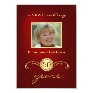 50th festa de aniversário - convites do monograma