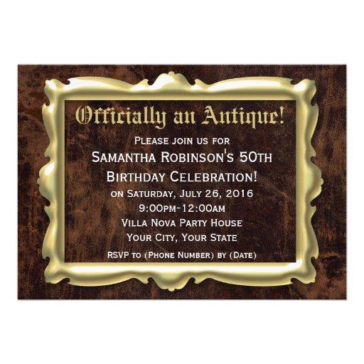 50th festa de aniversário engraçada oficialmente a convites