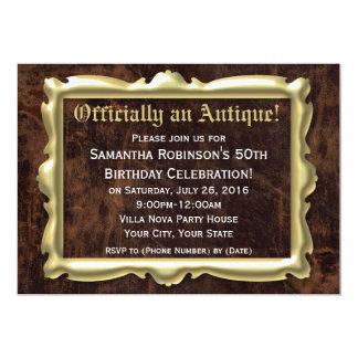 50th festa de aniversário engraçada oficialmente convites