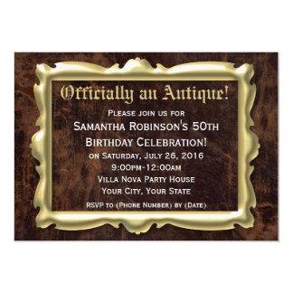 50th festa de aniversário engraçada oficialmente convite 12.7 x 17.78cm