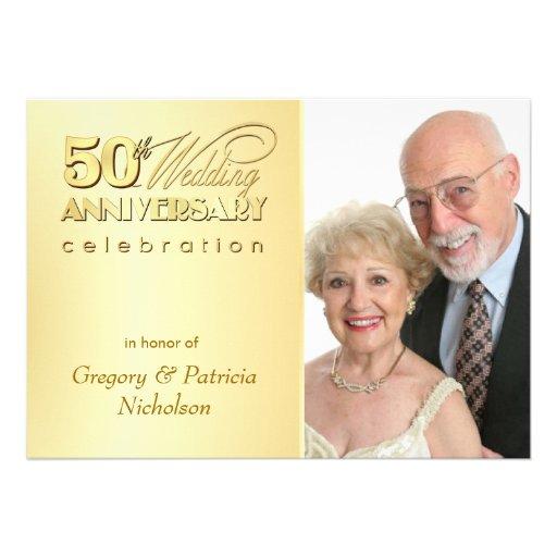 50th festa de aniversário moderna - convites da fo