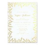 50th Folhas douradas da folha de ouro branco do Convite