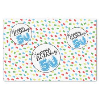 50th Fontes coloridas festivas do papel de
