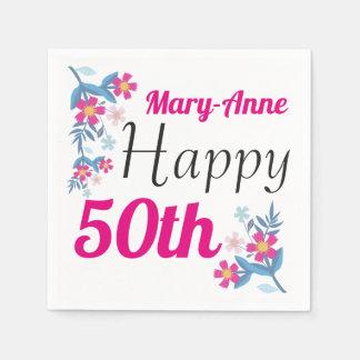50th Guardanapo de papel da festa de aniversário
