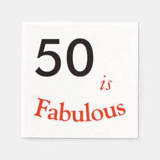 50th Guardanapo do aniversário