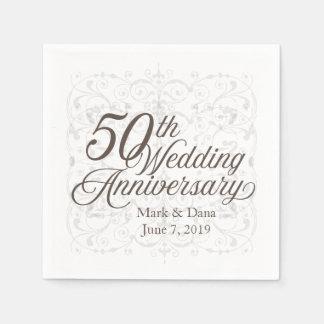 50th Guardanapo do aniversário de casamento