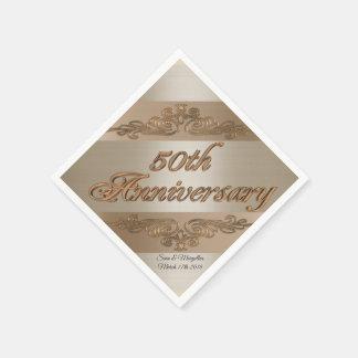 50th Guardanapo personalizados aniversário do
