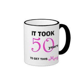 50th Ideias do presente de aniversário para a Caneca Com Contorno