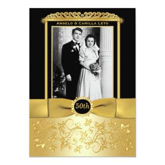 50th O aniversário de casamento convida Convite 12.7 X 17.78cm
