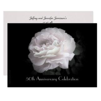 50th O convite da festa de aniversário rosa pálido