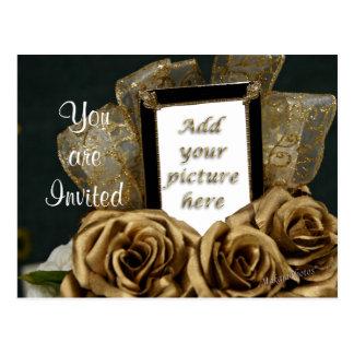 50th O convite do cartão do aniversário