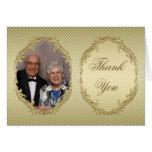 50th Obrigado da foto do aniversário de casamento  Cartão
