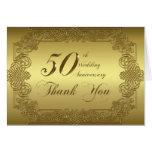50th Obrigado do aniversário de casamento você car Cartão De Nota