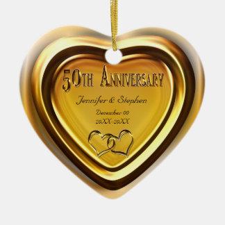 50th Ornamento da foto do aniversário de casamento