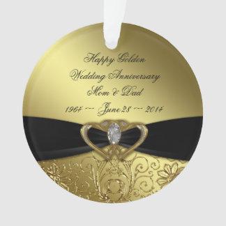 50th Ornamento do acrílico do aniversário de