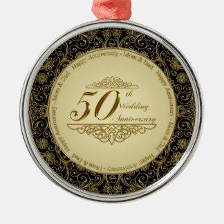 50th Ornamento do aniversário de casamento