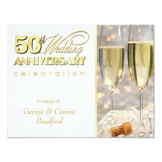 50th Ouro de Champagne dos convites da festa de