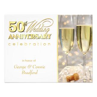50th Ouro de Champagne dos convites da festa de an