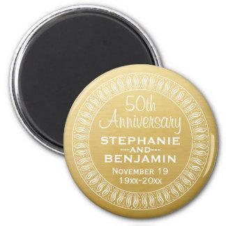50th Ouro personalizado do aniversário de Imã