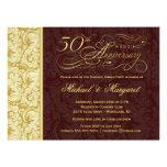 50th Partido de surpresa do aniversário - damasco  Convite Personalizados