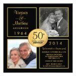50th Partido de surpresa do aniversário de Convites Personalizado