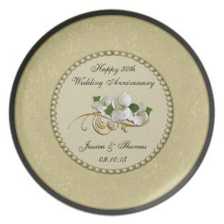 50th Placa decorativa do aniversário de casamento Prato
