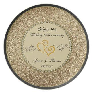 50th Placa decorativa do aniversário de casamento Pratos