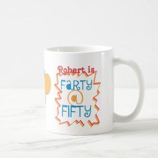 50th presente engraçado personalizado da mordaça caneca de café