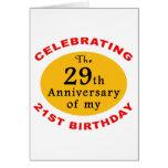 50th Presentes da mordaça do aniversário Cartão
