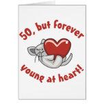 50th presentes de aniversário bonitos cartão