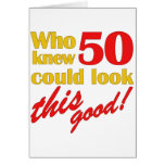 50th presentes de aniversário divertidos cartao