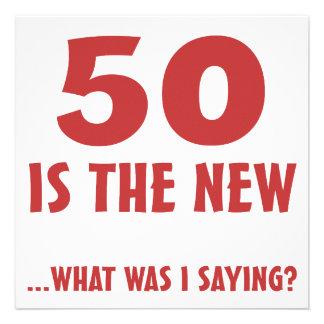 50th presentes engraçados da mordaça do aniversári convite personalizados